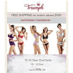 [Triumph] 12.12 Year End Sale Is Starting Tomorrow!