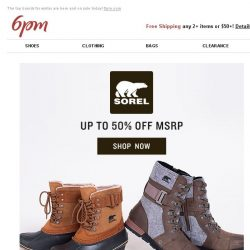 [6pm] SOREL + Koolaburra by UGG and more on sale!