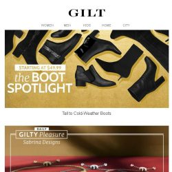 [Gilt] The Boot Spotlight From $49.99 | Final Hours for TUMI