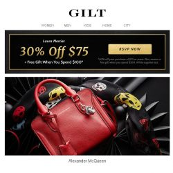 [Gilt] Alexander McQueen | Extra Savings for 24 Hours Only