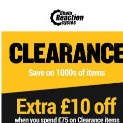 [Chain Reaction Cycles] EXTRA £10 off Clearance. This Way ➡️