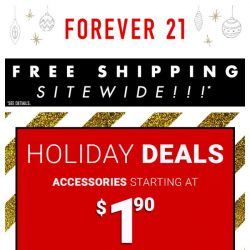 [FOREVER 21] Holiday Deals starting at $1.90