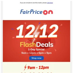 [Fairprice] Today Only: Flash Deal Fever! ⚡