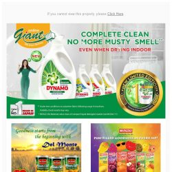 [Giant] ✅ Clean and Fresh for less with Indoor Dry Dynamo❗