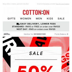 [Cotton On] Cancel your plans – This SALE won't wait