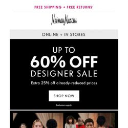 [Neiman Marcus] Limited time: 60% off designer looks