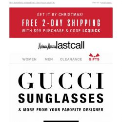 [Last Call] Gucci sunglasses & more >> highly desirable gifts