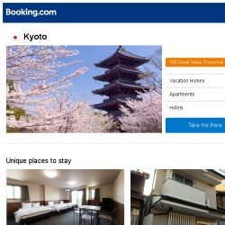 [Booking.com] Deals in Kyoto from S$ 23