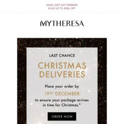 [mytheresa] Last chance to order in time for Christmas