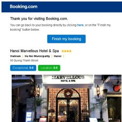 [Booking.com] Hanoi Marvellous Hotel & Spa – are you still interested in staying?