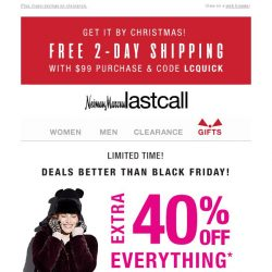 [Last Call] Get out your list! Extra 40%–80% off EVERYTHING