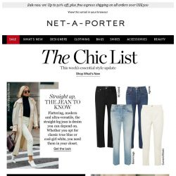 [NET-A-PORTER] Do you own this denim must-have?