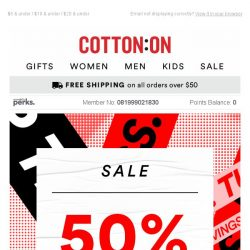 [Cotton On] Happy wardrobe, happy wallet + SALE continues 🙌
