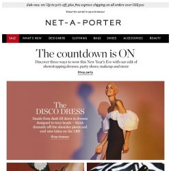 [NET-A-PORTER] 3 ways to wow this New Year's Eve