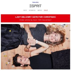 [Esprit] All you need to look fab this Christmas!