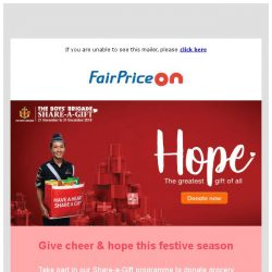 [Fairprice] Donate Grocery Hampers To Those In Need 💝