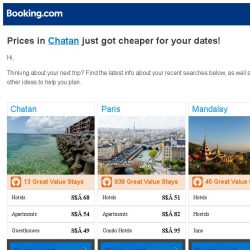 [Booking.com] Prices in Chatan are dropping for your dates!