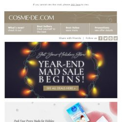 [COSME-DE.com] 🌟 Must-have items for this Christmas! Selected makeup, masks products on sale 🌟