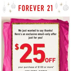 [FOREVER 21] Surprise, Babe! Here's $25!