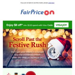 [Fairprice] No Qs this Christmas!