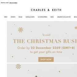 [Charles & Keith] Need Your Gifts By Christmas?