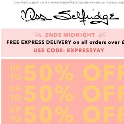 [Miss Selfridge] 1 DAY ONLY: Up to 50% off ALL knitwear...