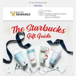 [Starbucks] Here's your last minute shopping gift guide 🎁