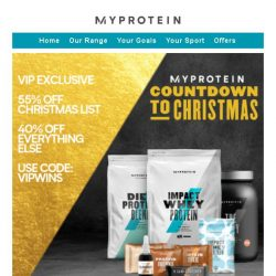 [MyProtein] 🎅 Claim Your Exclusive VIP Code for Christmas!