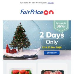 [Fairprice] 2 Days of Great Bargains!