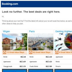 [Booking.com] Wigan, Paris, or Genting Highlands? Get great deals, wherever you want to go