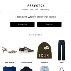 [Farfetch] New in. Shop our latest arrivals