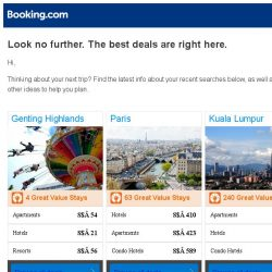 [Booking.com] Genting Highlands, Paris, or Kuala Lumpur? Get great deals, wherever you want to go