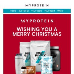 [MyProtein] Merry Christmas from Myprotein 🎄🌟🎁