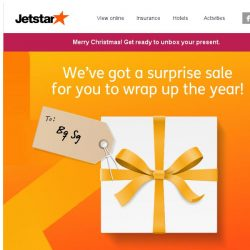 [Jetstar] 🎁 Merry Christmas! A surprise sale is coming...