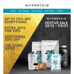 [MyProtein] [VIP] Your Boxing Day Exclusive! 🎁