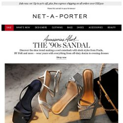 [NET-A-PORTER] Meet the shoes making a cool comeback