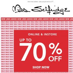 [Miss Selfridge] Up to 70% off...