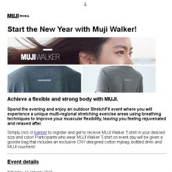 [Muji] MUJI invites you to Outdoor StretchFit event!