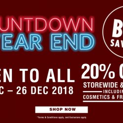 Metro: Year-End Sale with 20% OFF Storewide & Online Including Cosmetics & Fragrances