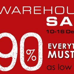 Epitex: 2018 Year-End Warehouse Sale with Up to 90% OFF on Bedlinen, Pillows, Quilts, Towels & More!