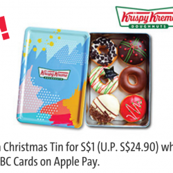 Krispy Kreme: Enjoy a Christmas Tin for $1 (UP $24.90) with OCBC Cards on Apple Pay!