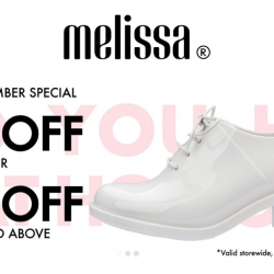 Melissa: Get 20% OFF 1 Pair or 30% OFF 2 Pairs and Above in December!