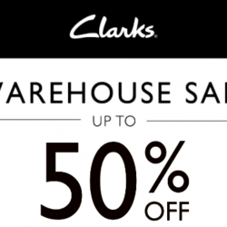 Clarks: Warehouse Sale 2018 with Up to 50% OFF Footwear