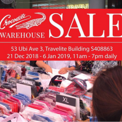 Crocodile: Warehouse Sale with Up to 80% OFF Men's & Ladies' Apparel, Leather Accessories, Footwear & More