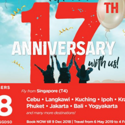 AirAsia: 17th Anniversary Sale with All-In Fares from SGD48 to Over 130 Destinations