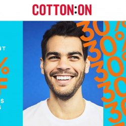 Cotton On: 12.12 Online Sale with 30% OFF Thousands of Styles & All Full-Priced Cotton On Kids & Body Items!