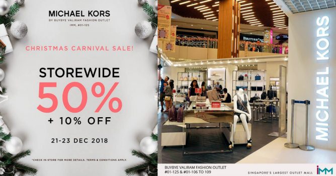 8fe4b19b6bde Get the perfect gift for your loved ones at Michael Kors by BuyBye Valiram  Fashion Outlet s Christmas Carnival Sale from 21 - 23 Dec 2018.