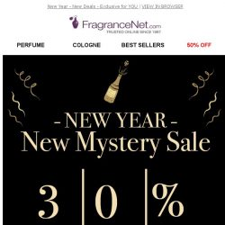 [FragranceNet] New year calls for new DEALS (coupon inside!)