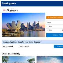 [Booking.com] Prices in Singapore dropped again – act now and save more!