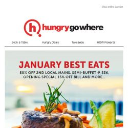 [HungryGoWhere] Best of Asian cuisines this January - 50% off 2nd mains, 1-for-1 omakase/shabu shabu set, and more
